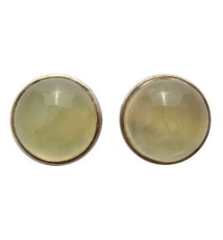 Ear Studs Prehnite Natural Stone