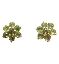 Ear Studs Peridot Natural Stone