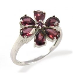 Ring Rhodolite Garnet Natural Stone