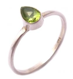 Ring Peridot Natural Stone