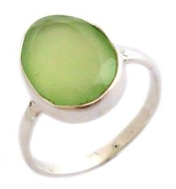 Ring Prehnite Natural Stone
